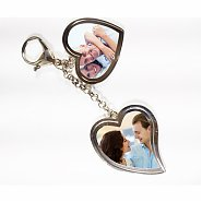 You & I Personalized Valentine Heart Shaped Keychain