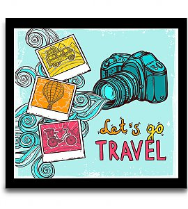 Lets go travel wall art