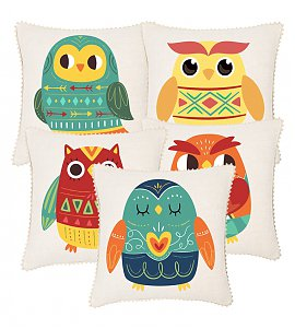 Set of 5 Traditional Tribal Print Cushion