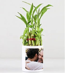 2 Layer Bamboo In Personalized  Dad Mug