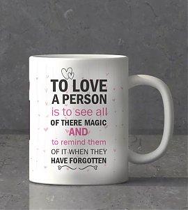 Love Message Personalized Mug