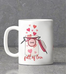 Full of love personalized mug