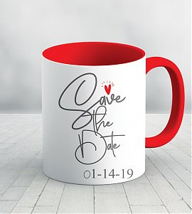 Save the date personalized mug