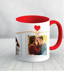 Love collage personalized mug