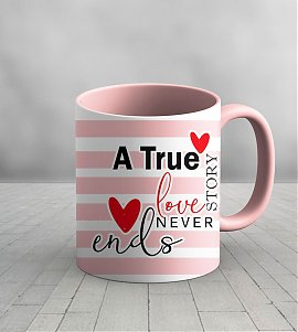 True love never ends personalized Mug