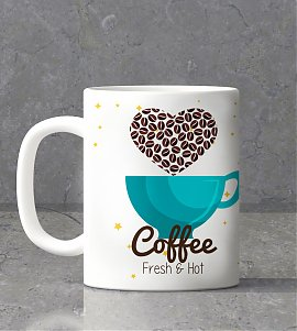 Coffee with personalized mug
