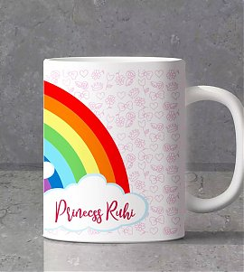 Unicorn theme kids personalized  mug