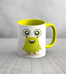 Cute monster  kids mug