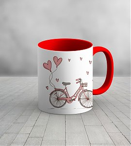 Let's go for a ride red personalized mug