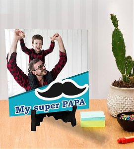 My Super Papa and Child Personalized Tiles