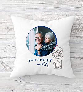 You are my world personalized cushion