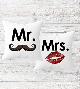 Mr. and Mrs. Cushion Set