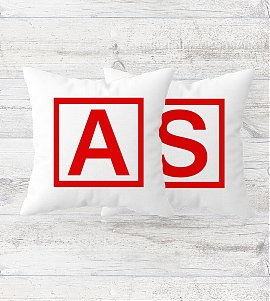 Personalized White Satin Cushion
