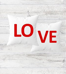 Romantic LOVE Cushions Set Of 2