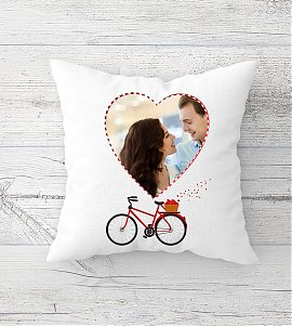 Heart personalized cushion