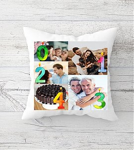 Personalized Couple Photo Collage Cushion