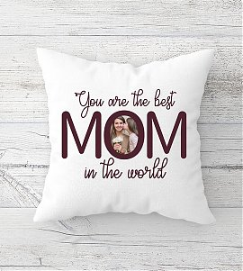 World the best mom Personalized Cushion