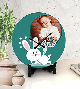 Bunny personalized clock
