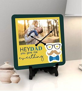Daddy love personalized clock