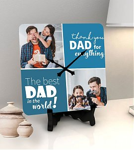 Thank you dad personalized clock