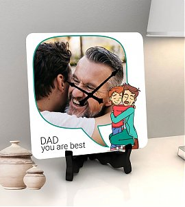 You are the best dad  personalized clock