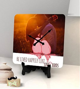Love Birds personalized clock