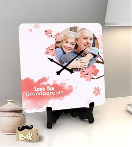Grandparents personalized clock