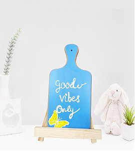 Good vibes only handpained wooden easel