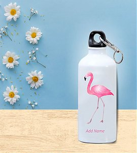 flamingos Personalized Sipper Bottle