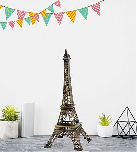 Metallic Eiffel Tower Statue 19 cm Excellent Showpiece for Home Decor Eiffel Tower Replica, Best Gift idea for Any Occasion