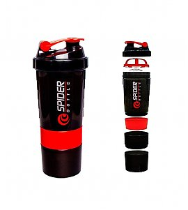 Spider Smart Protein Shaker Bottle for gym 500 ml -red