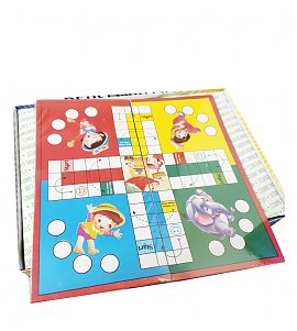Megnatic ludo and snaks and ladders  game (Multicolor)