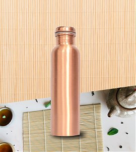 Matt finish copper bottle with 100 Ml 100 % copper