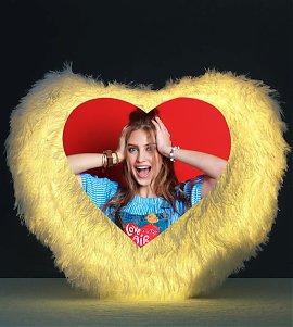 Personalized LED Heart Cushion