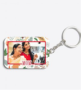 Personalised Floral Keychain for Mom