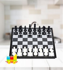 Magnetic  Chess Board With 32 Pawns Coins Standard size 36 cm Chess Board