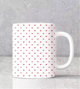 Personalised mug with red love