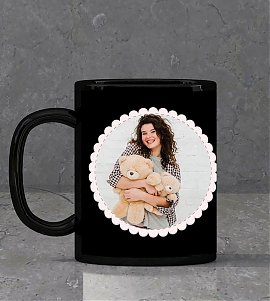 Romantic Personalised Black Mug