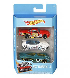 Hotwheels  Diecast Toy Car Pack of 3 - (Colours & Designs May Vary)