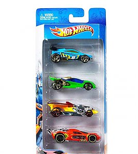 Hotwheels  Diecast Toy Car Pack of 4 - (Colours & Designs May Vary)