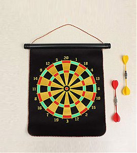 Magnetic Dart Board with 4 Darts (12 Inch)