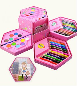 46 Pieces Color Kit with Girl hexagon Box
