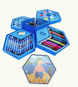 46 Pieces Color Kit with Princess hexagon Box