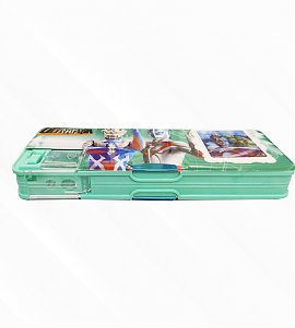 Dual Compartment Magnetic Pencil Box With Calc