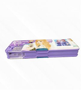 Frozen Fantasy Dual Compartment Magnetic Pencil Box With Calc