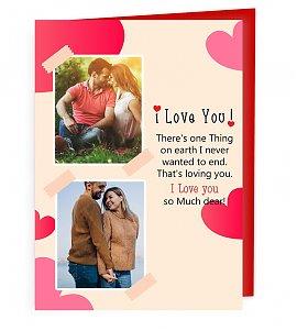 Personalised Love Greeting Card
