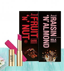 Lakme Absolute Matte Ultimate Lip Color -Orchid Pink -with sweetness of chocolates