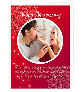 Anniversary personalised Card