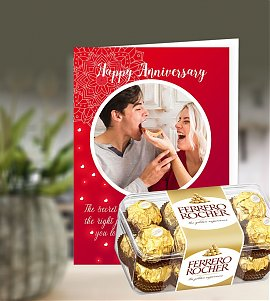 Anniversary Greeting Card with Ferrero Rocher
