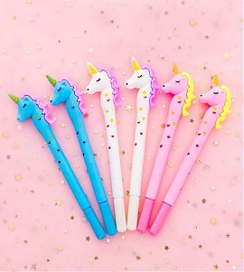 Unicorn Gel Pen Pack of4